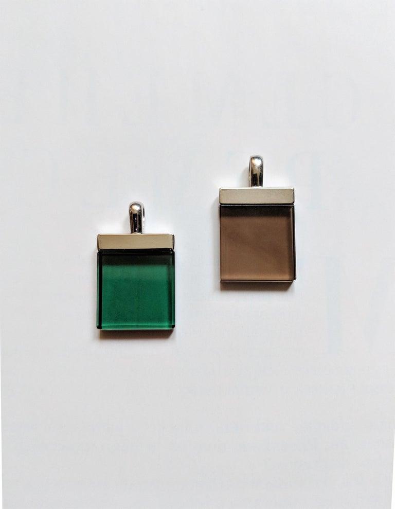 Artist Feat in Vogue UA Designer Necklace with Emerald Color Green Quartz For Sale