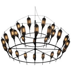 Feather Chandelier, Handmade Decorative Light, by Vantot, Europe