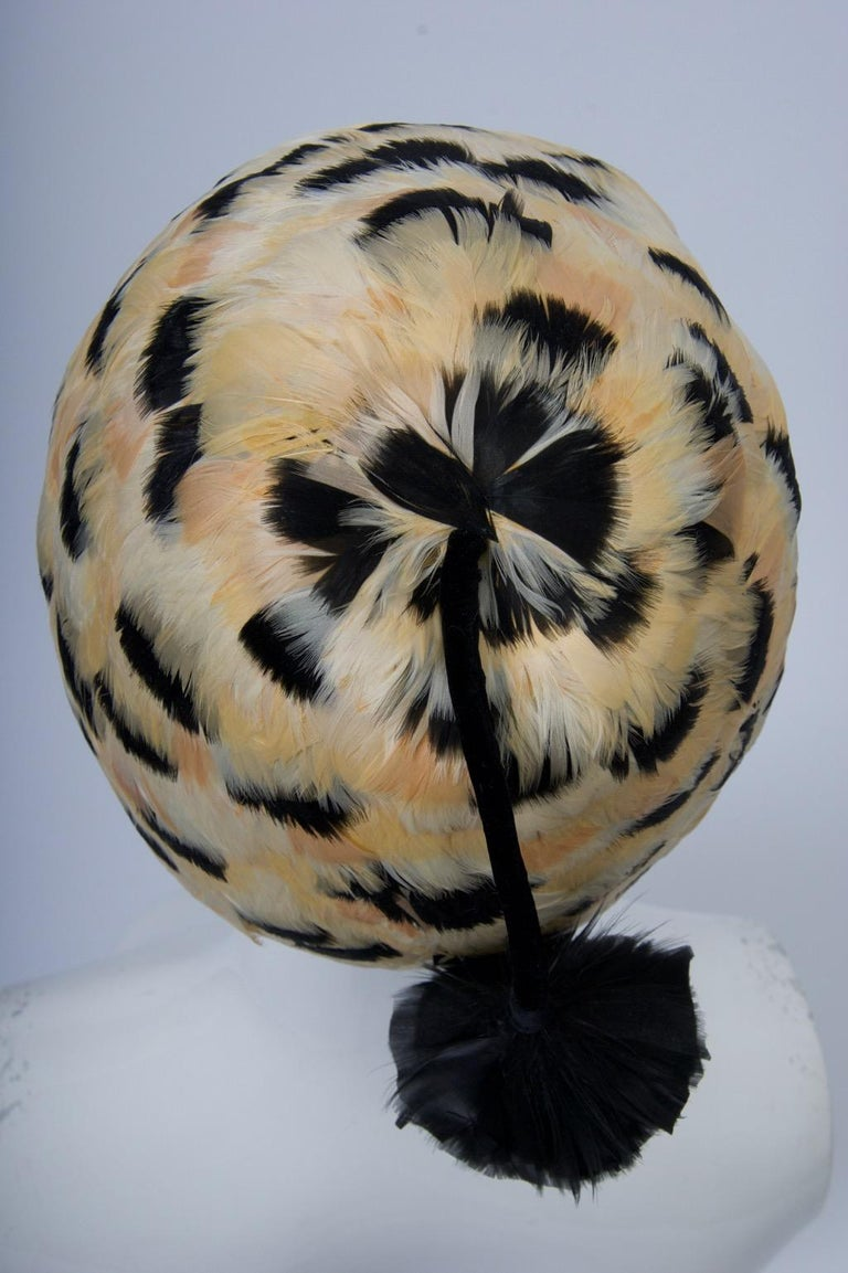 Feather Hat with Tassel For Sale 1