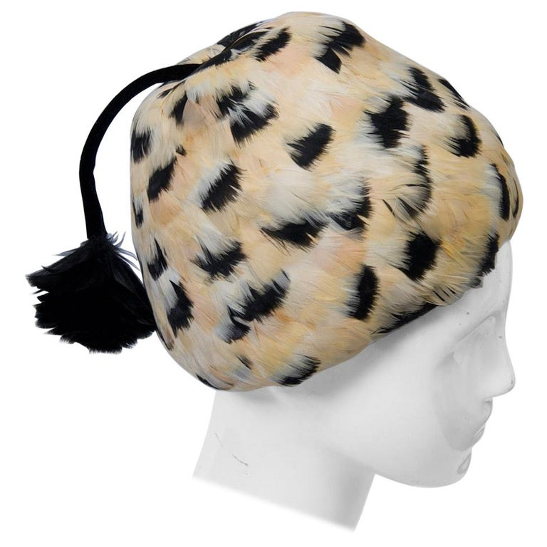Feather Hat with Tassel For Sale