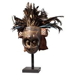 """Feathered Face Mask """"Ishyeen Imaalu"""", Kuba People, DRC"""