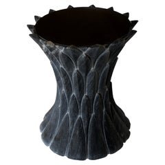 Feathers Marble Table in Beslana Black
