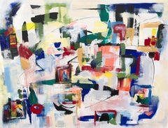 On a Clear Day, bold abstraction with light bright colors