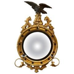 Federal Convex Bullseye Wall Mirror, 19th-20th Century