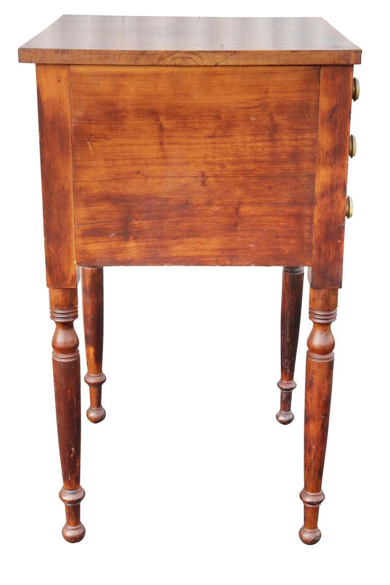 Federal Mahogany Bedside Table 3