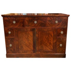 Federal Mahogany Sideboard or Server with Butler's Desk, Boston, circa 1810