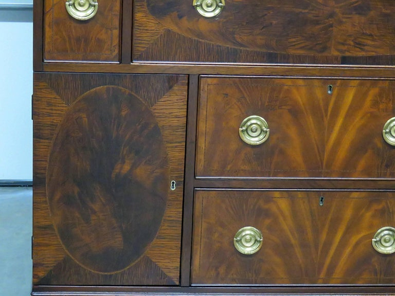 American Federal Style China Cabinet