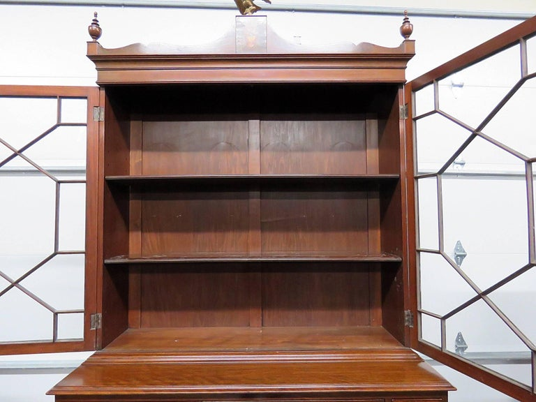 Glass Federal Style China Cabinet