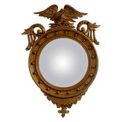 Federal Style Gilt Eagle Convex Mirror, American, circa 1820