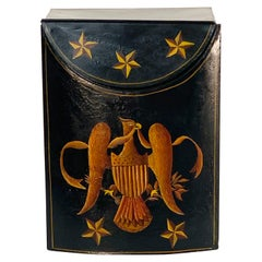 Federal Style Hand Painted Tole Tinder Wood Box