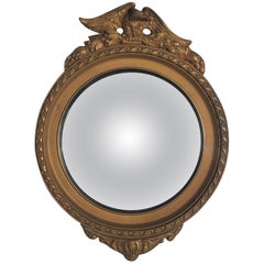 Federal Style Round Convex Giltwood Eagle Mirror