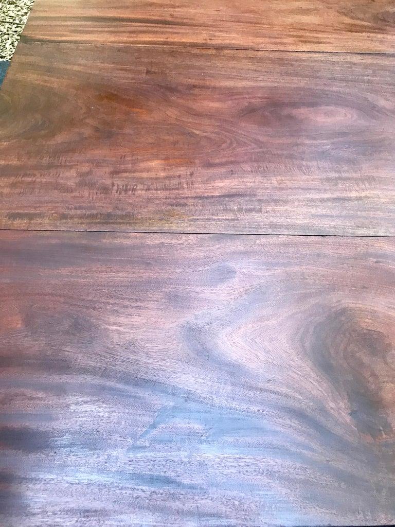 Federal Tobacco Leaf Carved Leg Table For Sale 2
