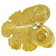 Federico Buccellati 18 Karat Yellow Gold Leaf Pinky Ring