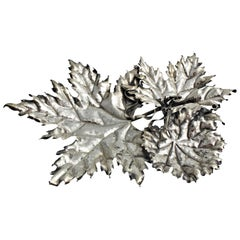 Federico Buccellati Sterling Silver Leaves Centerpiece, Italy, 1980s