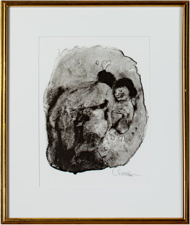 """Federico Castellon Figurative Print - """"Erotica III Marginala,"""" from the Mask of the Red Death series signed Castellon"""