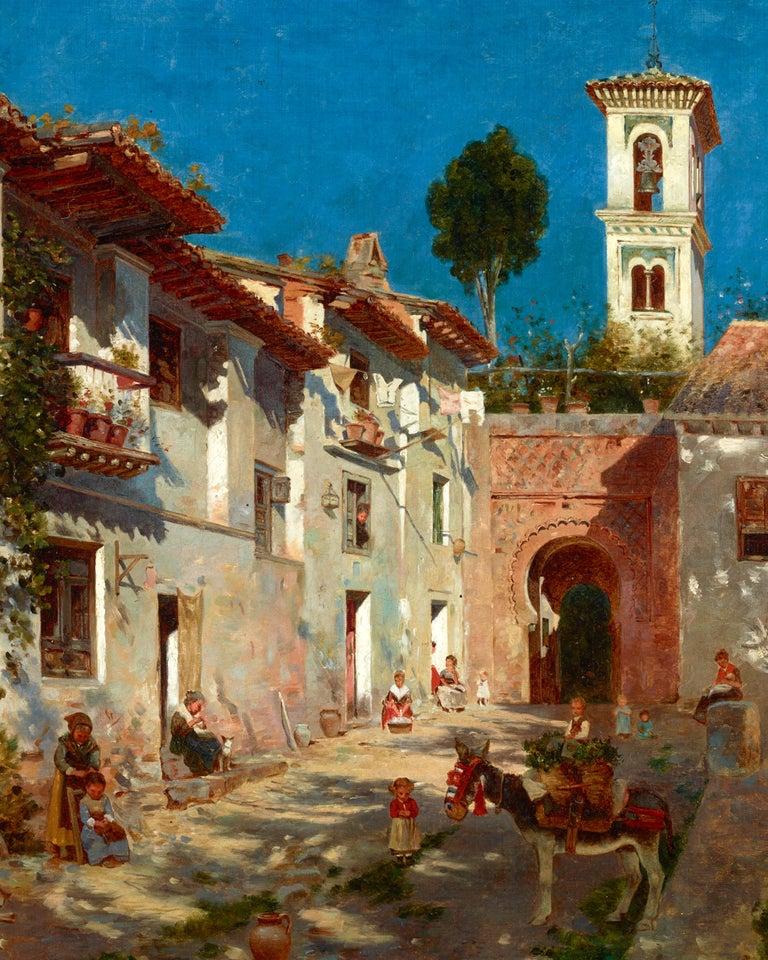 Venetian Street Scene - Academic Painting by Federico del Campo