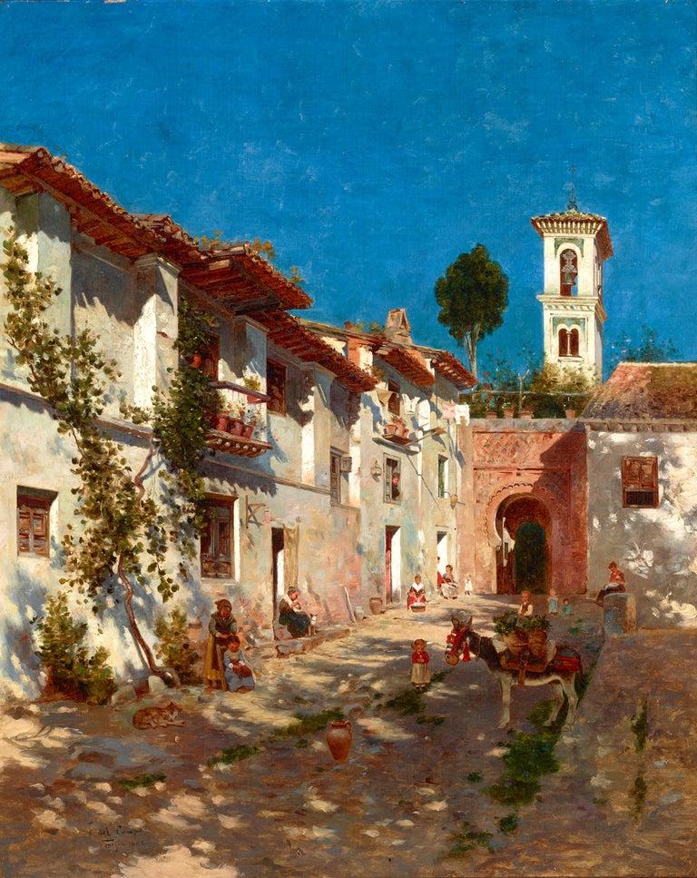 Federico del Campo Landscape Painting - Venetian Street Scene