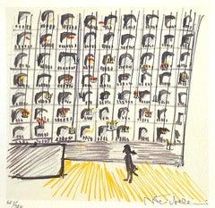 """IL CASANOVA """"Il Teatro de Dresda"""" Signed Lithograph, 1976 Italian Film, Theater"""