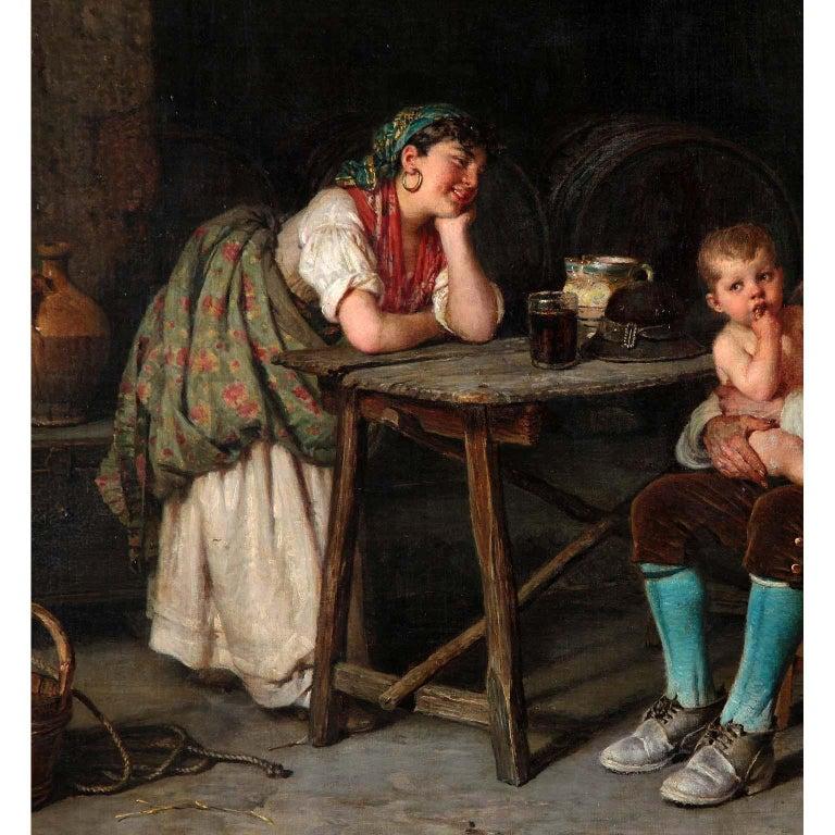 Italian Federico Mazzotta 19th Century Oil on Canvas