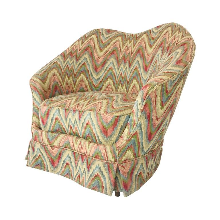 Missoni Fabric Covered Bergere Chair: Federico Munari Chair In Original Missoni Fabric For Sale