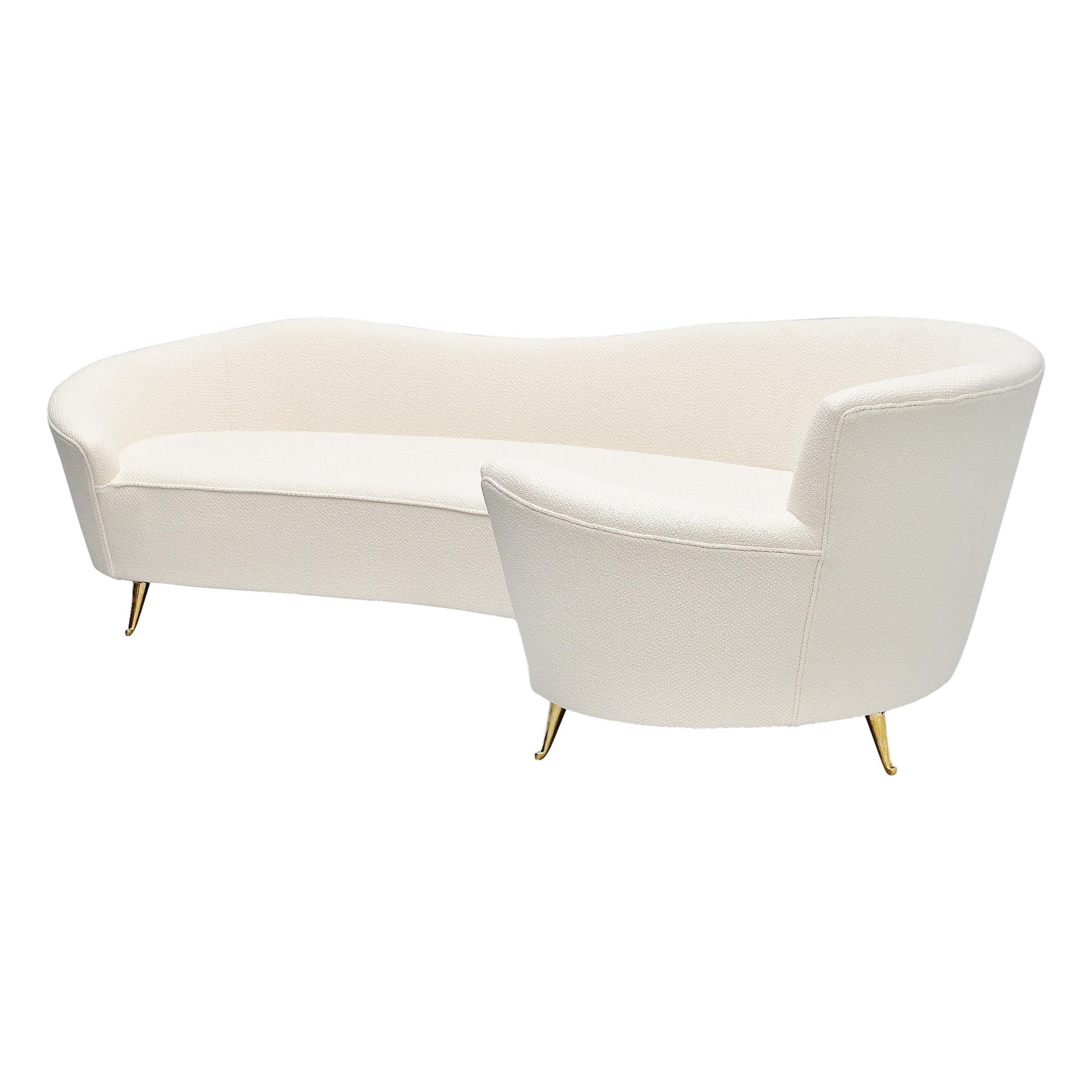 Federico Munari Curved Lounge Sofa, Italy, 1960