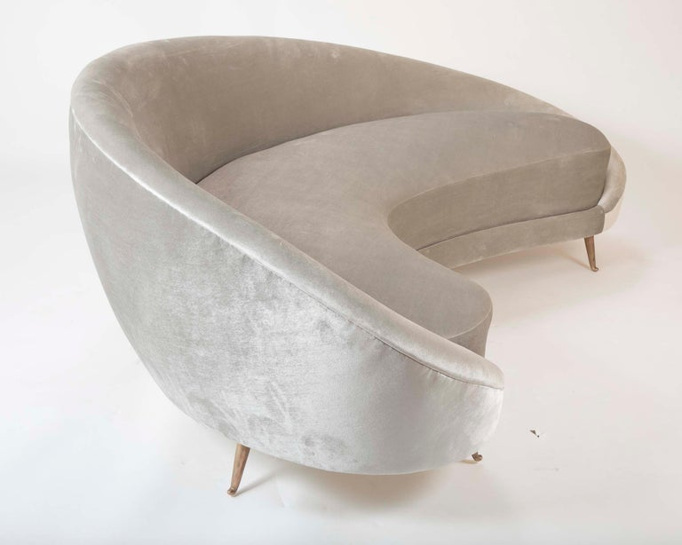 Federico Munari Sofa in Velvet For Sale 5