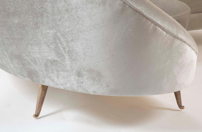 Federico Munari Sofa in Velvet For Sale 7