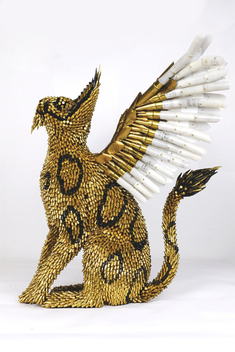 Griffin - Gray Figurative Sculpture by Federico Uribe