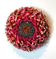 Pink Flower with Purple Stamen & Red/Green Pins