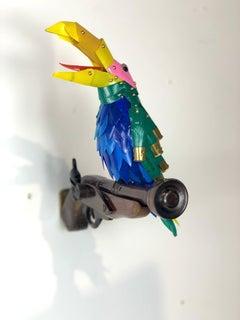 Squawking Bird on Pistol