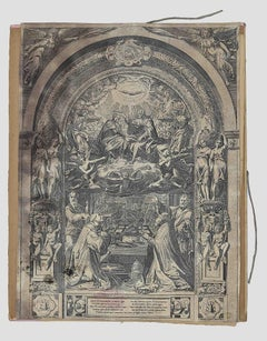 Christ, the Virgin and the Holy Spirit - Original Etching by F. Zuccari - 1650