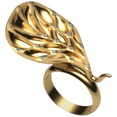 Exclusivity will be Your Fiefdom with One of a Kind Gold Diamond Cocktail Ring