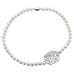 Fei Liu 16-Inch Single Strand Freshwater Pearl Necklace Sterling Silver