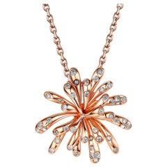 Fei Liu Diamond Rose Gold Pendant Necklace