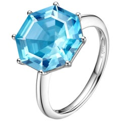 Fei Liu Blue Topaz White Gold Ring
