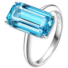 Fei Liu Blue Topaz White Gold Ring