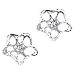 Fei Liu 18 Karat White Gold Small Unit Stud Earrings
