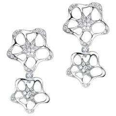 Fei Liu 18 Karat  White Gold Two-Part Stud Earrings