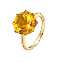 Fei Liu Citrine Yellow Gold Ring