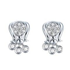 Fei Liu 9 Karat Diamond Stud Earrings
