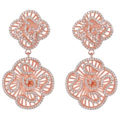 Fei Liu Cubic Zirconia 18ct Rose Gold Plated Sterling Silver Drop Earrings