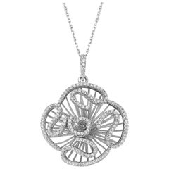 Fei Liu Cubic Zirconia Rhodium Plated Sterling Silver Pendant Necklace