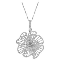 Fei Liu Cubic Zirconia Sterling Silver Statement Pendant Necklace