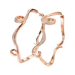 Fei Liu Diamond Rose Gold-Plated Sterling Silver Hoop Earrings