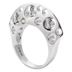 Fei Liu Diamond White Gold Ring