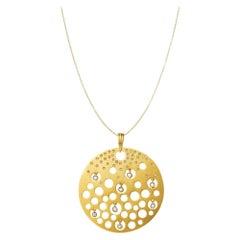 Fei Liu Diamond Yellow Gold Pendant Necklace