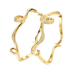 Fei Liu Diamond Yellow Gold-Plated Sterling Silver Hoop Earrings
