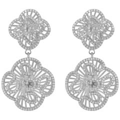 Fei Liu AAAAA Grade Cubic Zirconia Sterling Silver Drop Earrings
