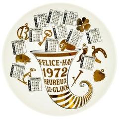 Felice 1972 'Happy 1972', Calendar Series by Piero Fornasetti, 1972