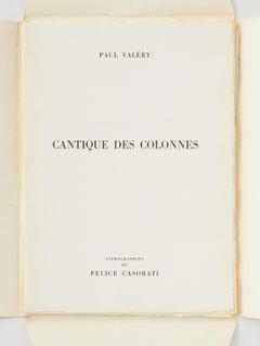 Cantique des Colonnes (post-war abstract Lithograph)